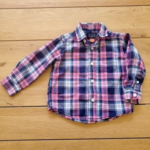 Children's Place Plaid Button Down Shirt